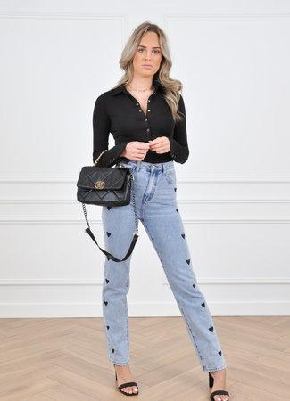 Love straight leg jeans black