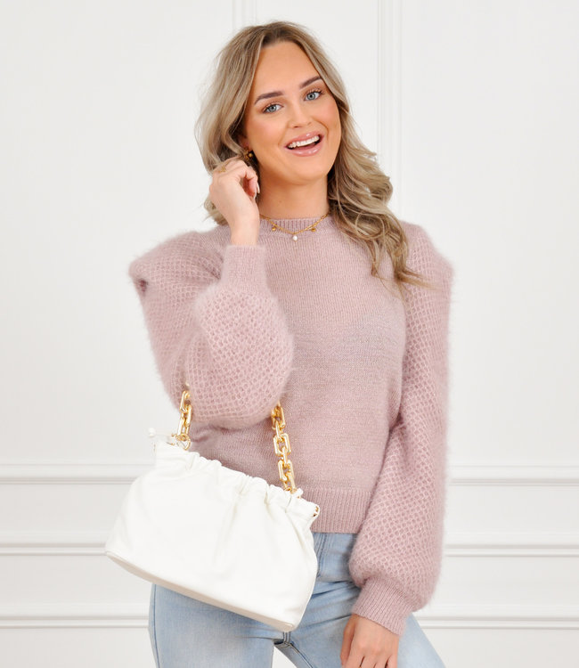 Amber knit pink