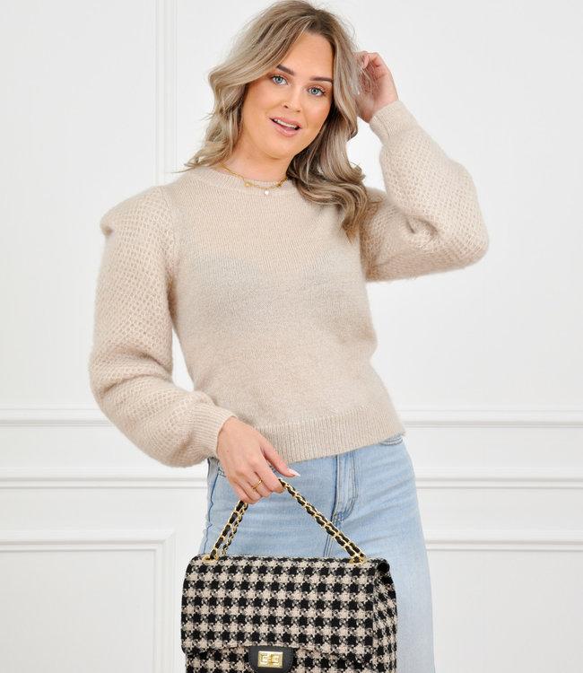 Amber knit beige
