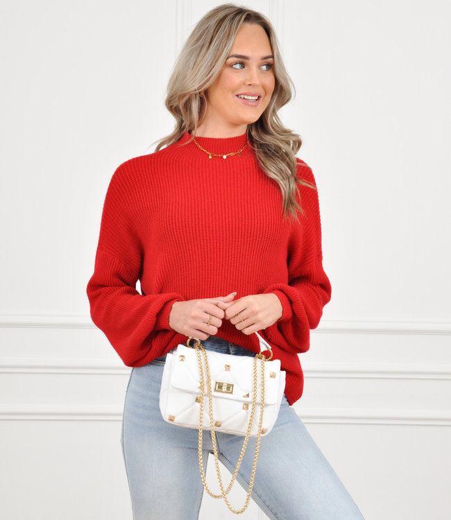Lexie knit red