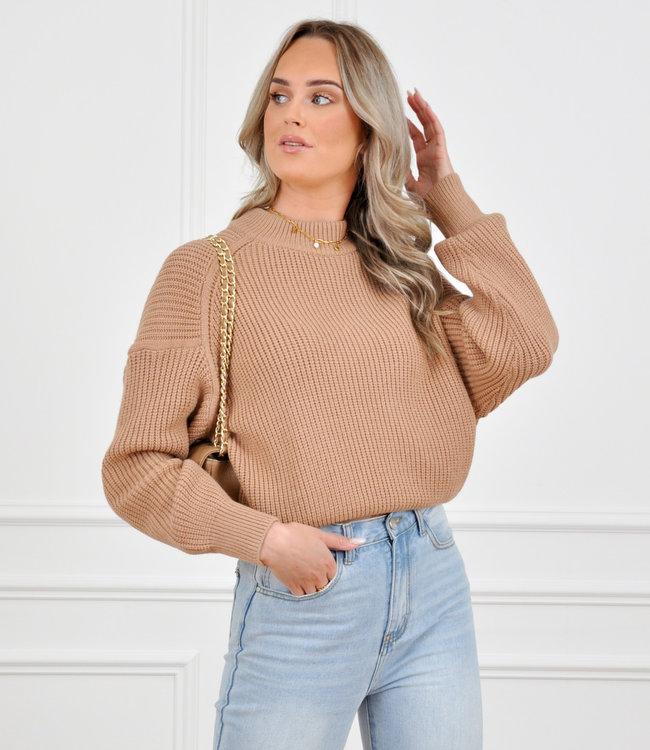 Joyce knit camel