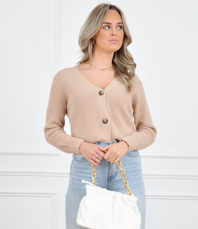 Pixie vest camel