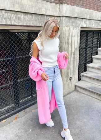 Femke vest pink
