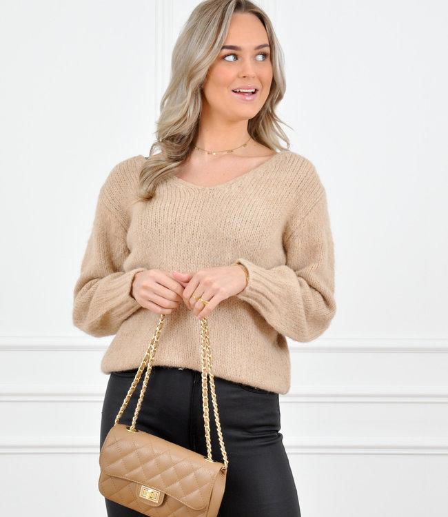 Mela knit beige