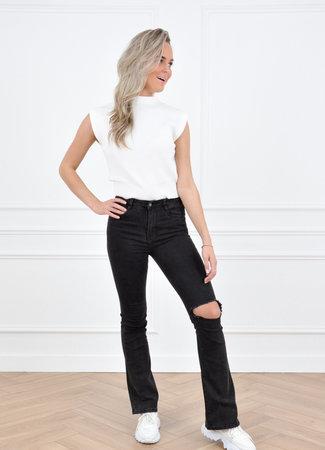 Nela flared pants black