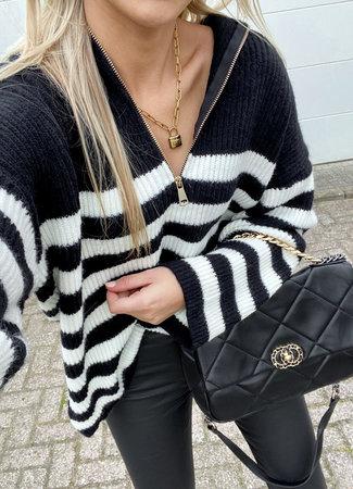 Hailey zipper knit