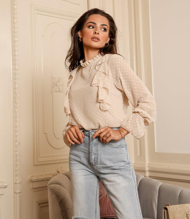 Dreamy blouse beige