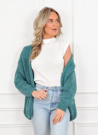 Jessie vest turquoise