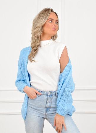 Jessie vest light blue