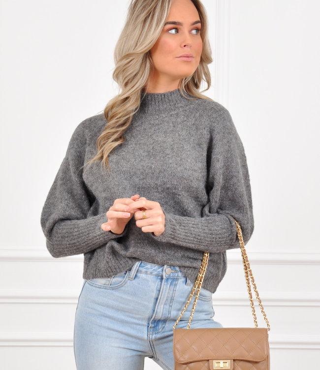 Kim knit dark grey