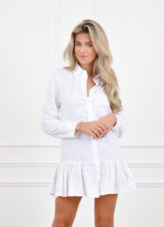 Jade blouse dress white