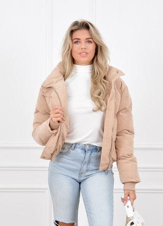 Joan puffer jacket beige