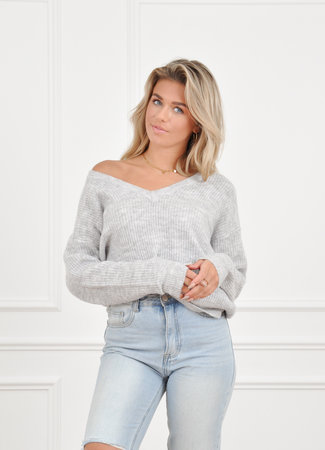 Loes knit grey