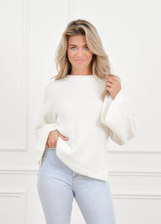 Mabel knit white
