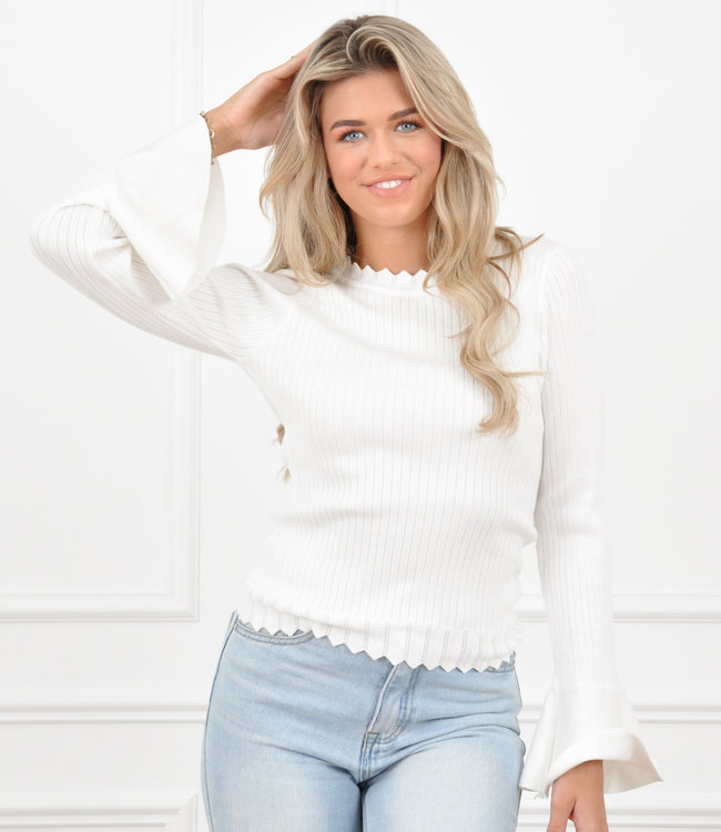 Miley top white
