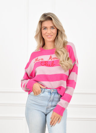 Mon amour knit pink