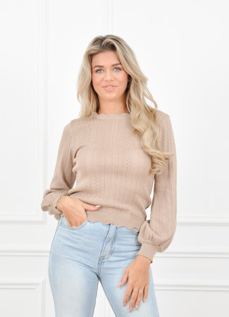 Maevi top taupe