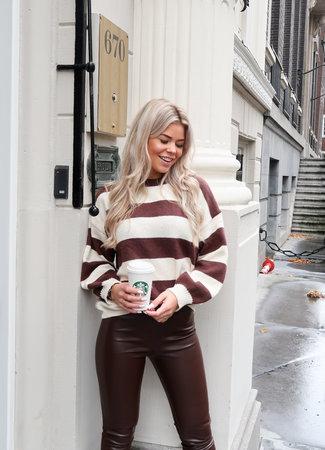 Nina knit coffee