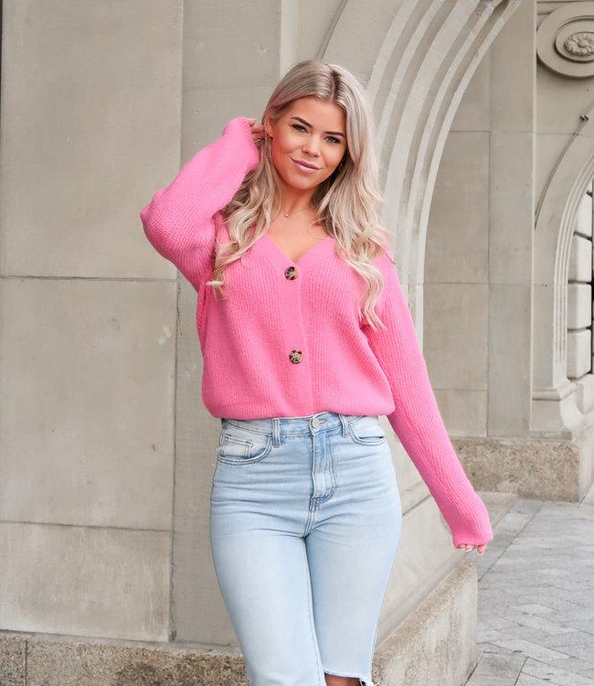Pixie vest hot pink