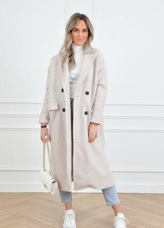 Jane teddy jacket white