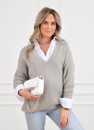 Cleo glitter knit grey