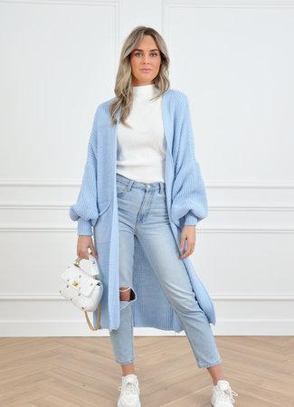 Femke vest light blue