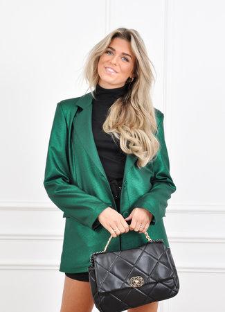 Glitter blazer green