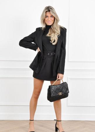 Glitter blazer black