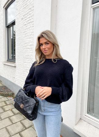 Rozan knit black