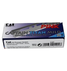 Kasho Made in Japan 5 x 20 Stk B-CAPT Captain Titan Mild Pink  Blades