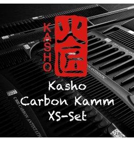 Kasho Made in Japan Kasho Carbon Kamm XS-Set vierteilig