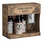 Lowlander Lowlander Cadeau Met 3 Fles + Glas