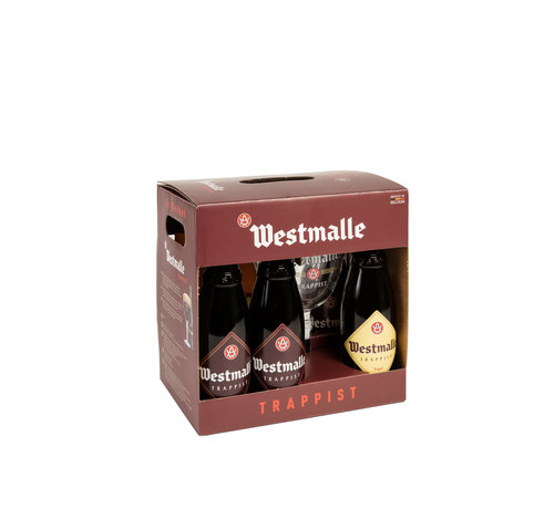 Westmalle Cadeauverpakking 6 Fles + Glas