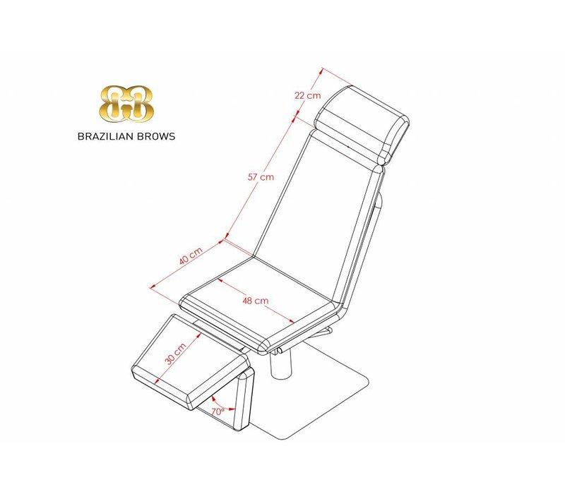 Brow Chair Black - White