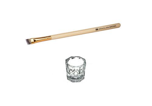 Brazilianbrows Paquet en verre de mélange et de pinceau