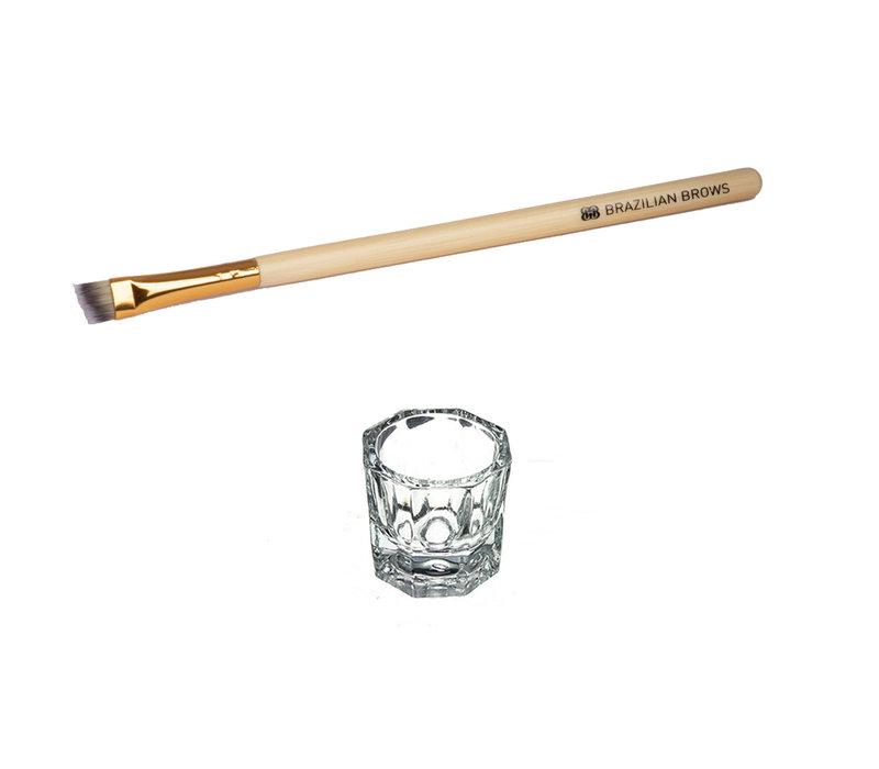 Brush and Mixing glass pakket