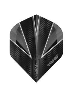 Winmau Prism Alpha Flights Zwart Zilver