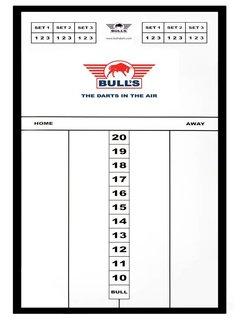 Bulls GLASS Basic SCOREBOARD - 45 x 30cm