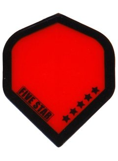 "Bulls FIVE-STAR Flight ""Transp.Red Black Border"""