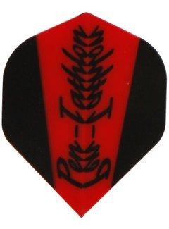 McKicks Pentathlon Flight Std. - Red & Black Scroll