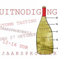NAJAARSPROEVERIJ - Wine tasting Event 27 oktober 2019