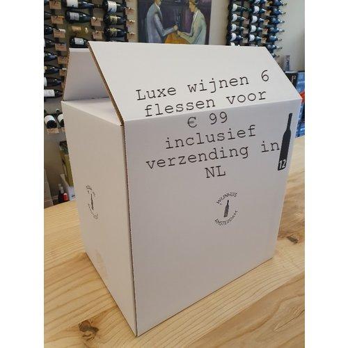 Assortimentsdoos Luxe rode & witte wijn (6 flessen)