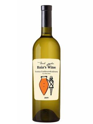 Baia's Wine Tsitska Tsolikouri Krakhune Qvevri Amber Wine  2018