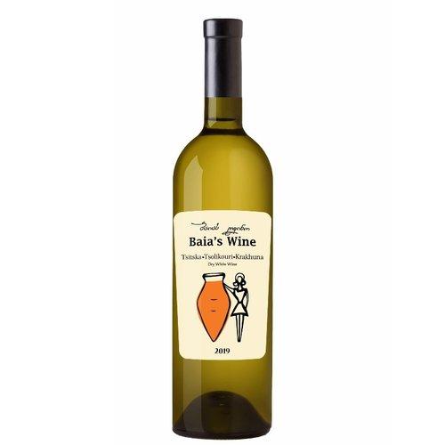 Baia's Wine Tsitska Tsolikouri Krakhune Qvevri Amber Wine  2019