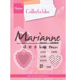 Marianne Design Marianne Design Collectable Candy Hearts GB tekstCOL1307