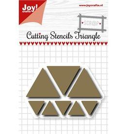 Joy Craft Joy Crafts scrap Snijmal traingles 6002/1107
