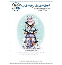 Whimsy Stamps Penquin Totem KHB156