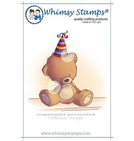Whimsy Stamps Whimpsy Stamps Teddy Birthday Hat LH146