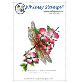 Wimsy Stamps Whimsy Stamps Dragonfly Floral DA1009