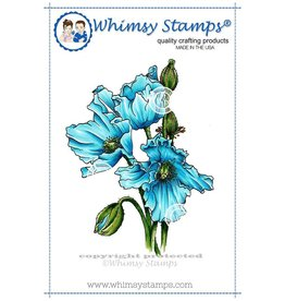 Whimsy Stamps Himalayan Poppy DA1013
